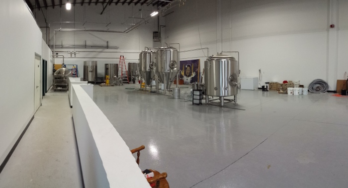 View of Burlington Beer Company brewery.