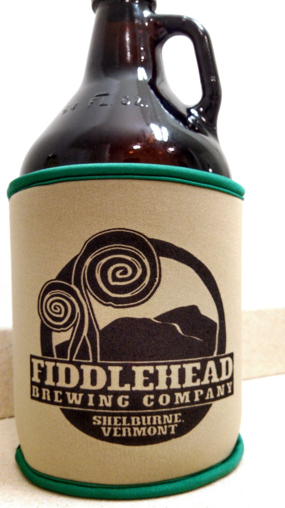 Fiddlehead growler coozie